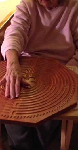 finger labyrinths with seniors