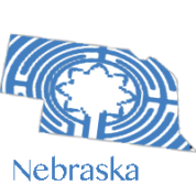 The labyrinth image imposted on the state of Nebraska